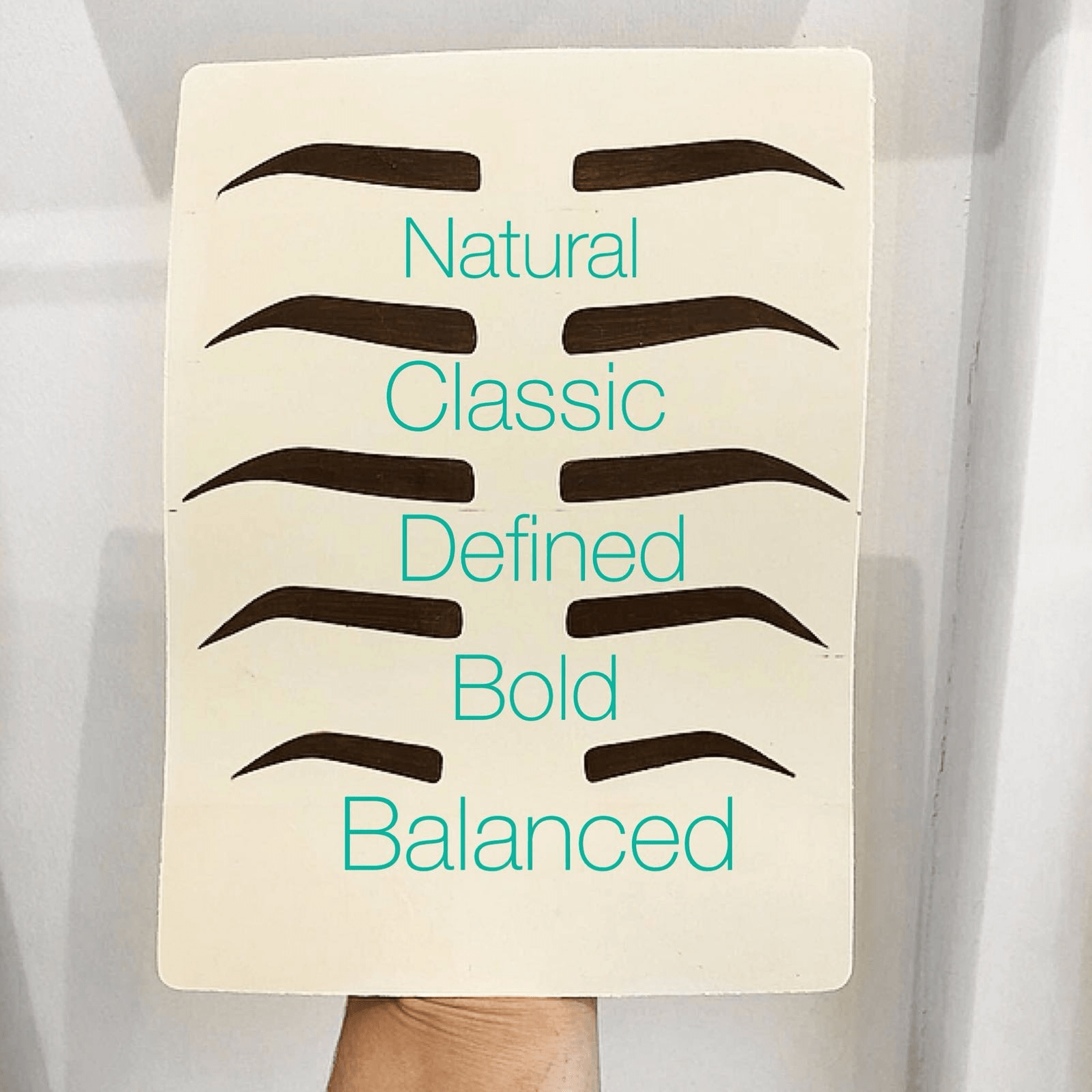 Eyebrow Template Tapes