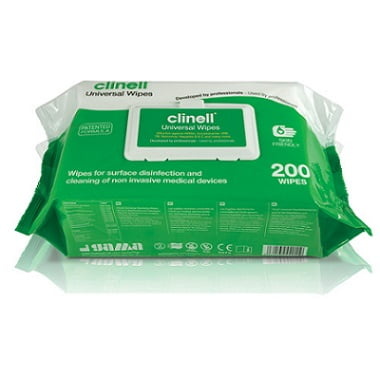 CLINELL UNIVERSAL WIPES – 200 WIPES PACK